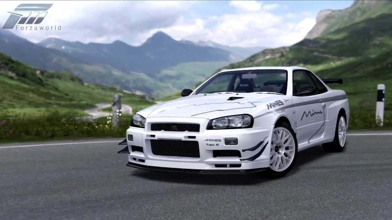 Nissan Skyline 2002 >> Forza 4 - 2002 MINE'S R34 Skyline GT-R - Unicorn Car - VIP Gift - YouTube