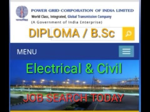 Government jobs | Diploma | Electrical | Civil | PG Degree | Power grid jobs 2018.