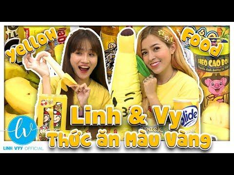 Thử Thách Ăn Đồ Ăn Màu Vàng (The Challenge Of Eating Yellow Food) I Linh Vyy Official