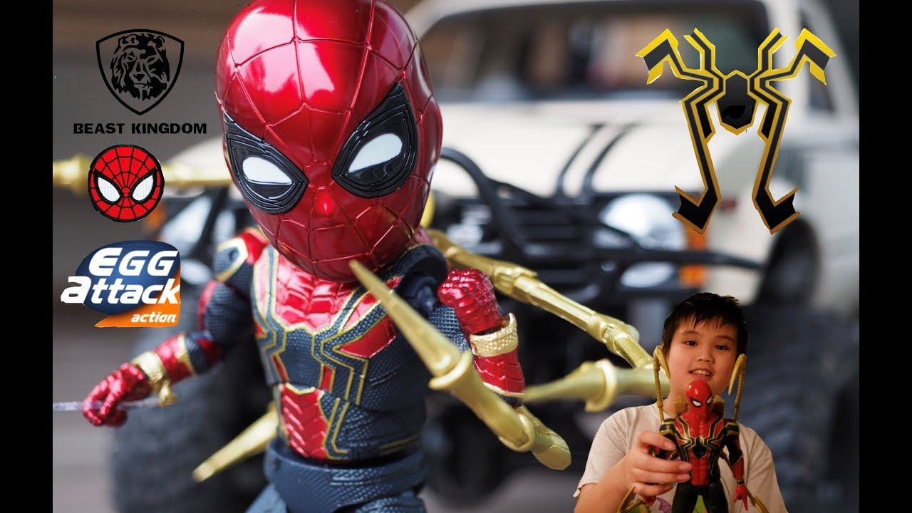 Iron Spider Avenger Infinity War By Beast Kingdom Egg Attack Action Figure