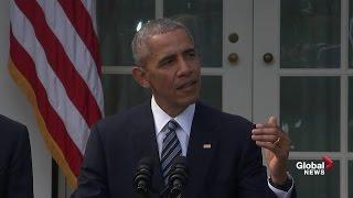 President Obama full speech following Donald Trump