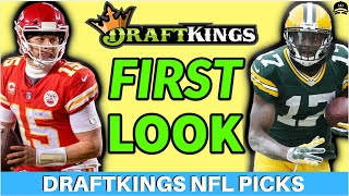 DRAFTKINGS NFL PLAYOFFS CONFERENCE CHAMPIONSHIP FIRST LOOK LINEUP PICKS | NFL DFS PICKS