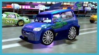 Cars 2 The Video Game FRANCESCO vs CHICK HICKS vs LIGHTNING MCQUEEN vs DJ