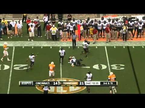 Tyler Bray vs Cincinnati 2011