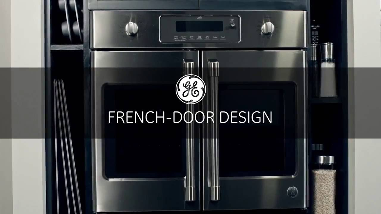 ge cafe french door wall oven