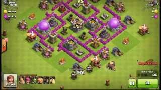 Defensa victoriosa en 54 segundos!! TH6 | Clash of Clans | Render Test