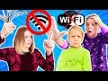 ЧТО ДЕЛАТЬ Если ДОМА ОТКЛЮЧИЛИ ИНТЕРНЕТ Маму устроила СПОР Кто больше продержится без интернета mp3