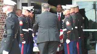 Funeral for a marine and His Family