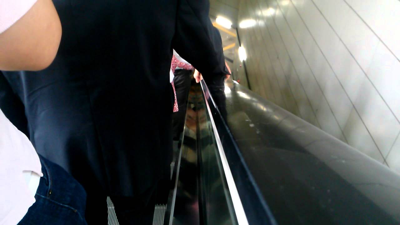 [free] 지하철 에스컬레이터01 subway escalator _ S.Korea _ free footage _ video clip