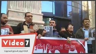 """بالفيديو.. وقفة على سلالم """"الصحفيين"""" لإحياء الذكرى الثلاثين لإستشهاد سليمان خاطر"""
