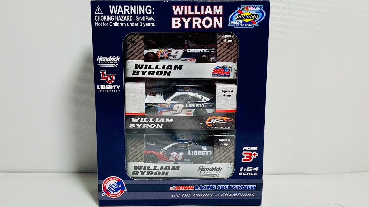 Lionel Racing William Byron Liberty University Rookie of The Year 3 Car Set 1:64 Nascar Diecast