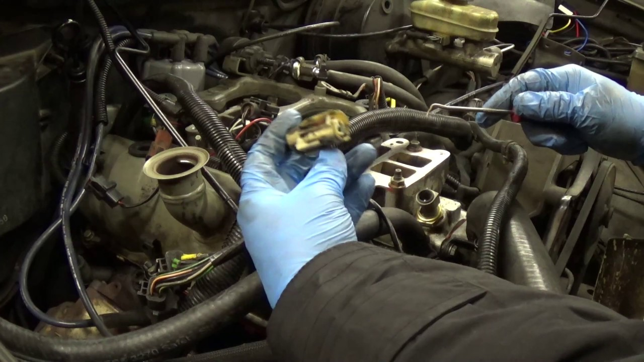 hight resolution of fuel injectors distributor and upper intake manifold reinstall on 1988 ford ranger