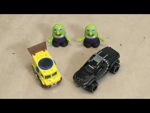 Disney Cars Toys Knockout Racing with New Funlings Car and New Spongebob Car TT4U