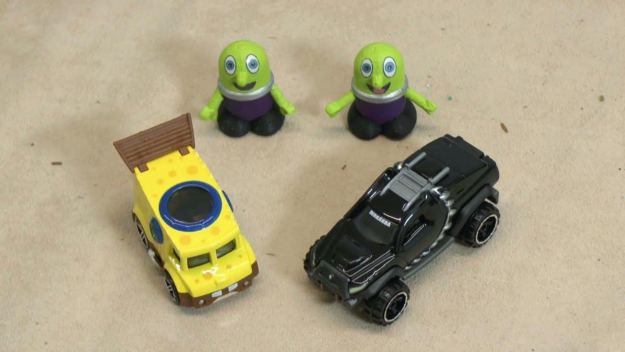 spongebob toys wheels cars racing funlings disney