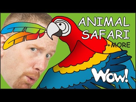 Animal Safari for Kids | Funny Magic Stories for Children from Steve and Maggie | Wow English TV