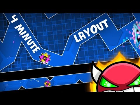 4 Minute XXL Demon Layout - Blast Processing - Geometry Dash 2.11