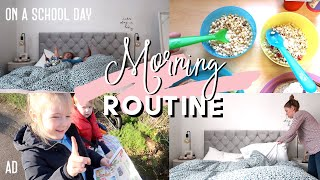 A SCHOOL DAY MORNING ROUTINE OF A MUM AND TWO KIDS UNDER 5 | #AD