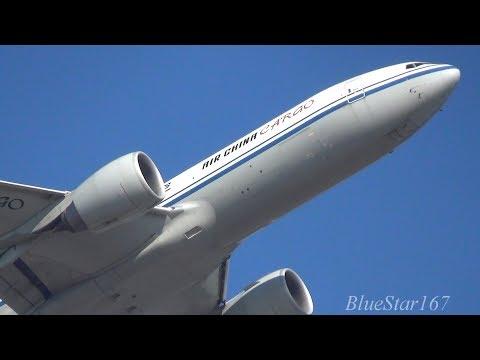 Air China Cargo Boeing 777F (B-2095) takeoff from NRT/RJAA (Tokyo - Narita) RWY 16R