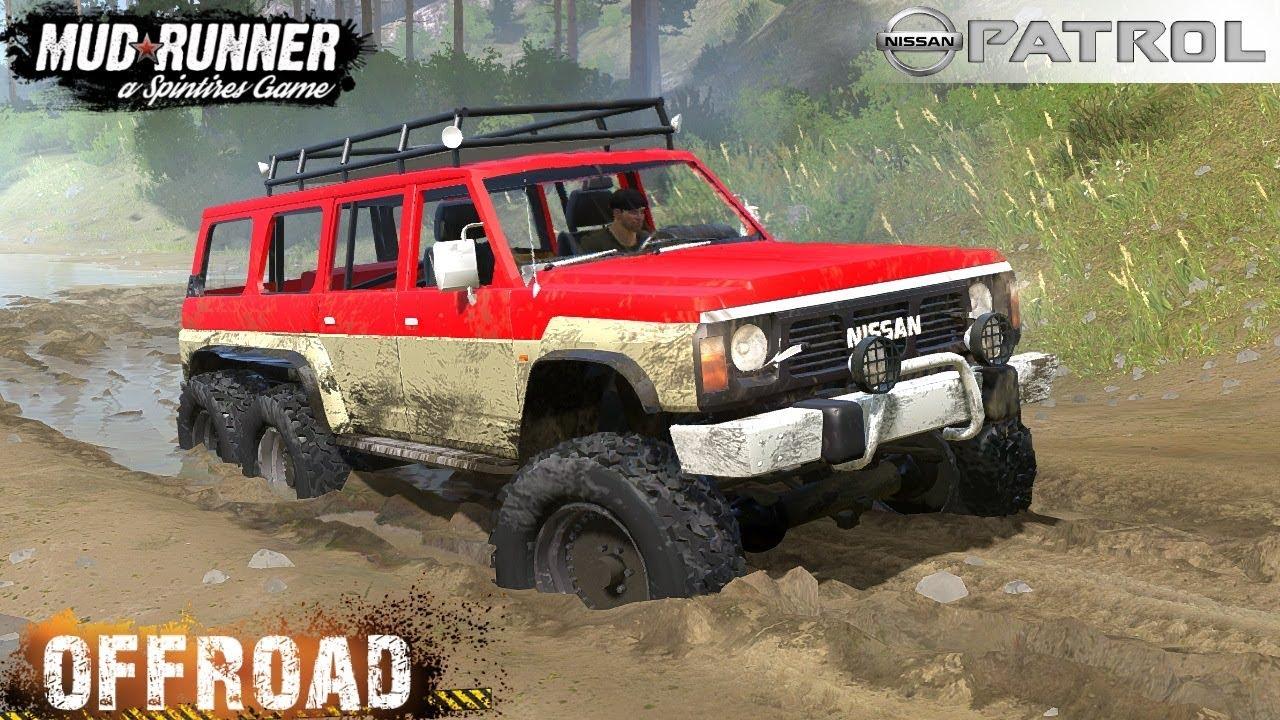 Spintires: MudRunner - NISSAN PATROL GQ Y60 6x6 Off-road