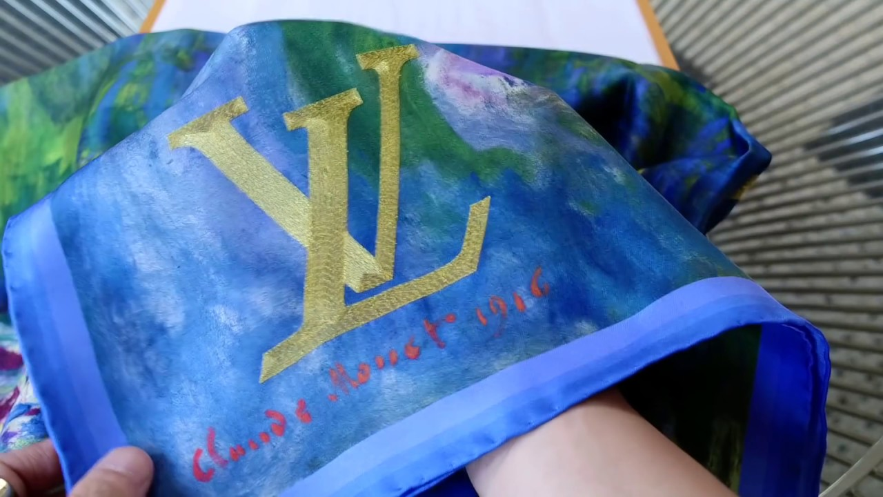 Monet Water Lilies Scarf Louis Vuitton X Jeff Koons Masters Series 2 Unboxing Reveal