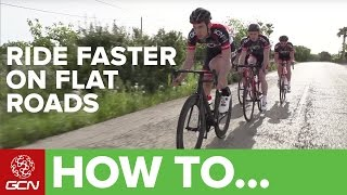How To Ride Flat Roads Faster
