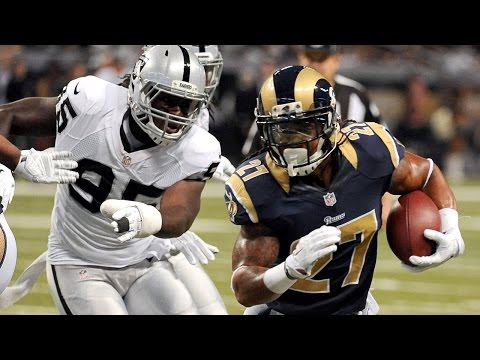 Tre Mason leaves the Raiders in the dust on this 89-yard touchdown run (Week 13, 2014)