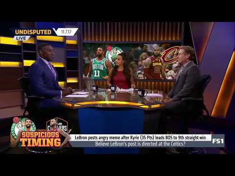 Shannon Sharpe calls out LeBron James for his cryptic post about Kyrie Irving and the Celtics