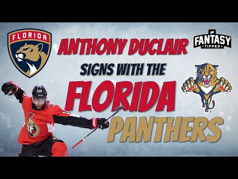 Anthony Duclair signs with the Florida Panthers!