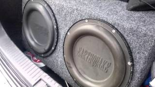 Earthquake 12 sub/passive radiator Bass I love you excursion