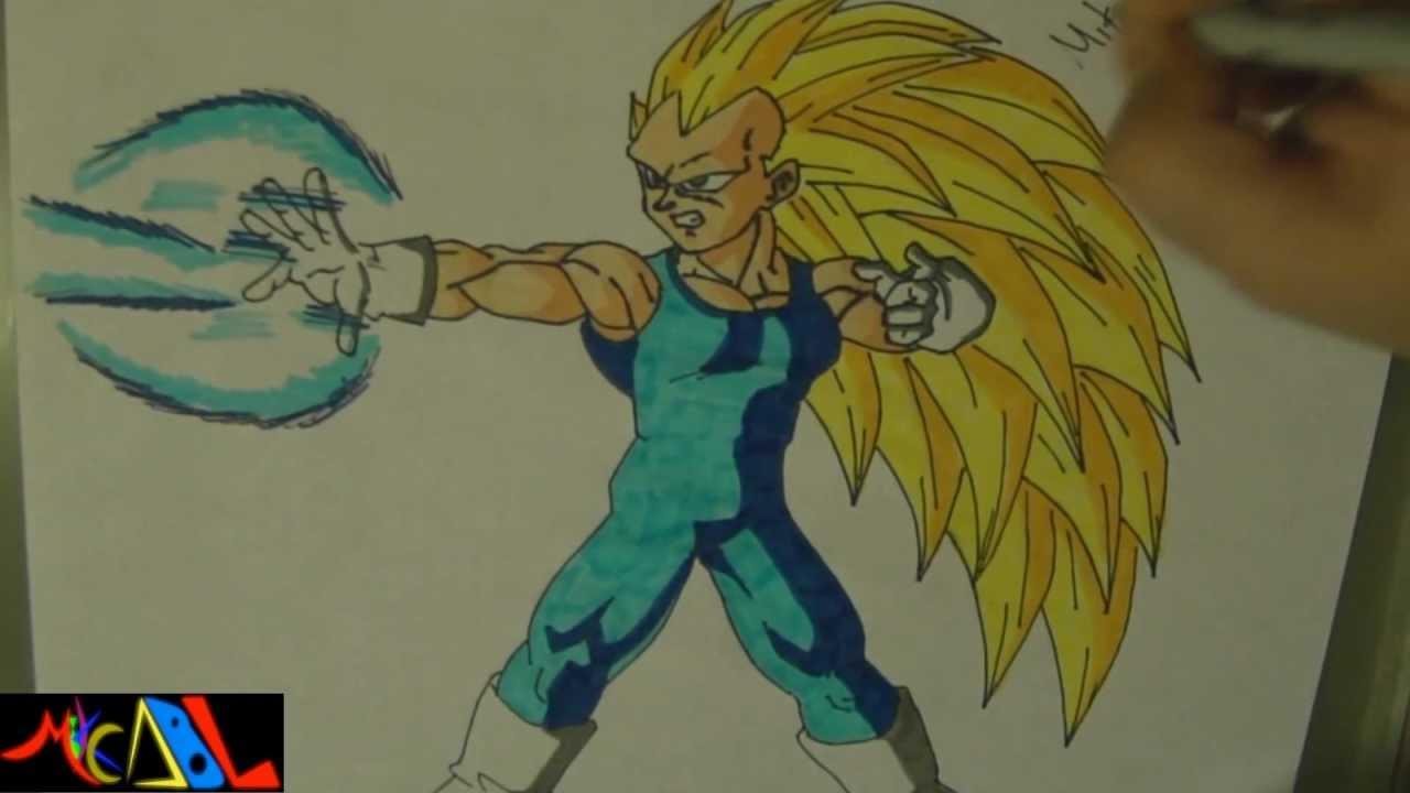 Dibujando a Vegeta SSJ3  YouTube