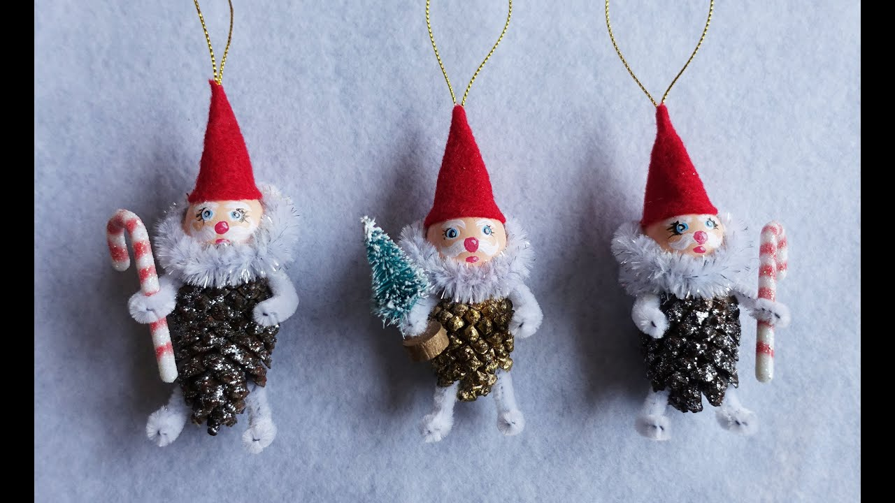 diy pinecone gnome ornament tutorial part 1 youtube