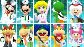Dr. Mario World - All Characters Win and Lose Animations