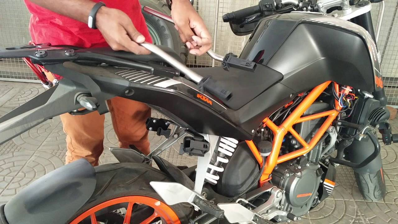 sw motech blaze panniers on ktm duke 390 - installation and review