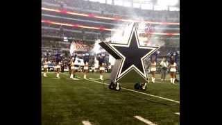 Dallas Cowboys Flag Team runout vs raiders thanksgiving day game 2013. Vid cred Albert Becerra