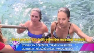 İstanbul'un Göbeğinde Tarabya Sahilinden Muhteşem Tatil Görüntüleri