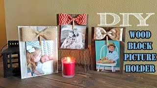 Wood Block Picture Holder