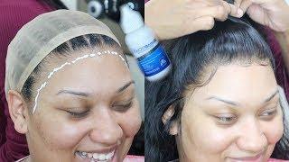 *VERY HONEST + DETAILED* Frontal Wig Install Using Ghost Bond Glue   OmgHerHair
