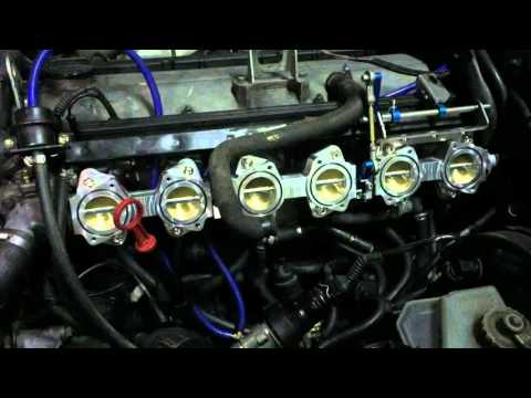 BMW E30 M20B25 install RHD ITB kit project frist start  in