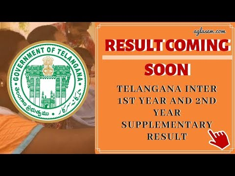 TELANGANA INTER 1st year & 2nd year Supplementary Result 2019