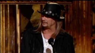 Kid Rock inducts Lynyrd Skynyrd Rock and Roll Hall of Fame inductions 2006