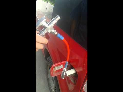 Заправка автомобиля метаном