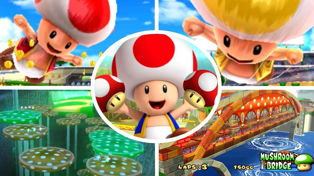 evolution of toad amp mushroom courses in mario kart 1992