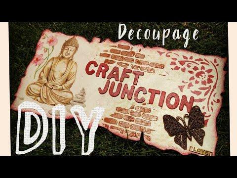 💜*!Easy Basic Decoupage Tutorial | DIY Name Plate | Step by Step Tutorial | Decoupage on wood ¡*💜