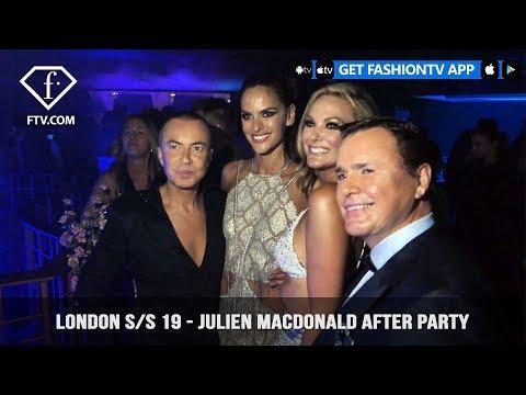 London Fashion Week Spring/Summer 2019 - Julien Macdonald After Party | FashionTV | FTV