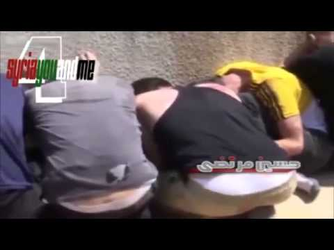 Syrian Army captured 15 Syrian Rebels and ready to kill them