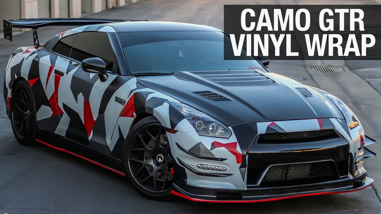 Nissan Gtr Camo Vinyl Wrap Premium Auto Styling Youtube
