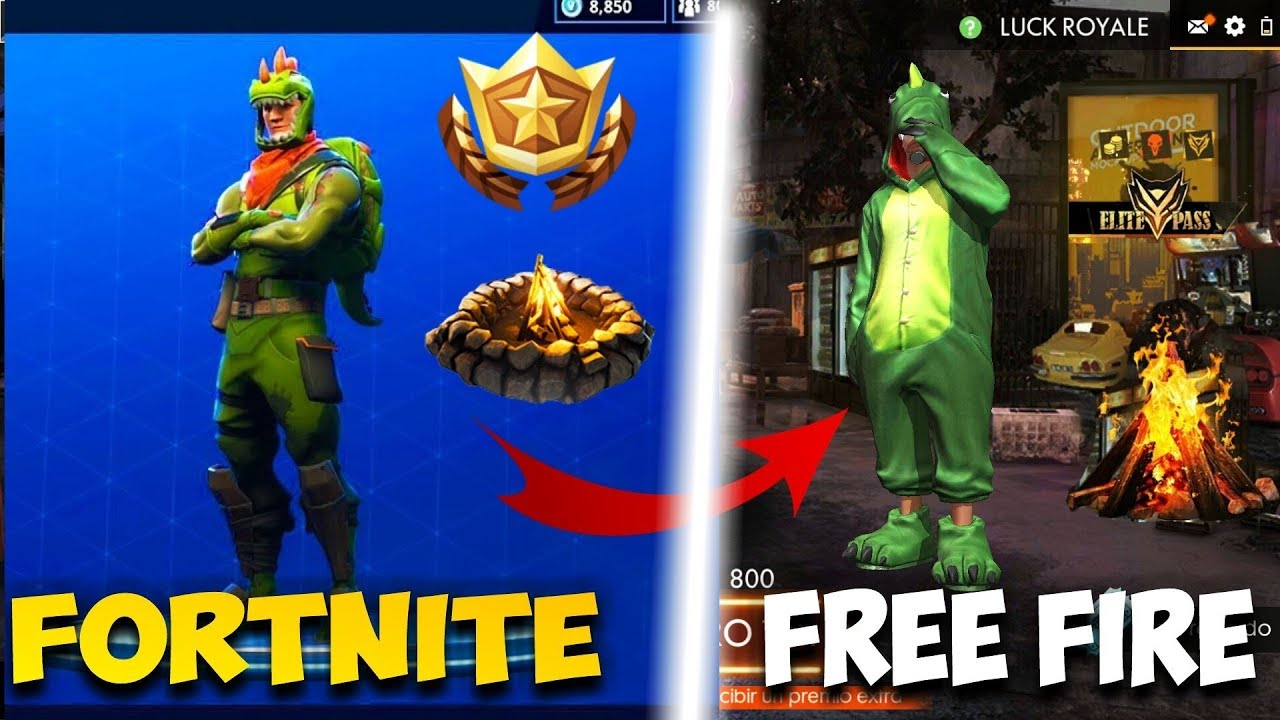Free Fire Copia A Fortnite Comparativa De Free Fire Y Fortnite Copias Youtube