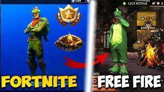 Free Fire Copy to Fortnite? Free fire and Fortnite Comparison Copies?