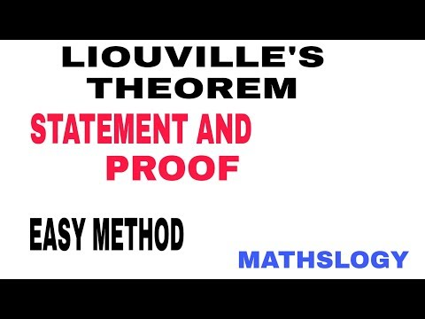 COMPLEX ANALYSIS - Liouvilles Theorem Proof In Hindi  #MATHSLOGY#