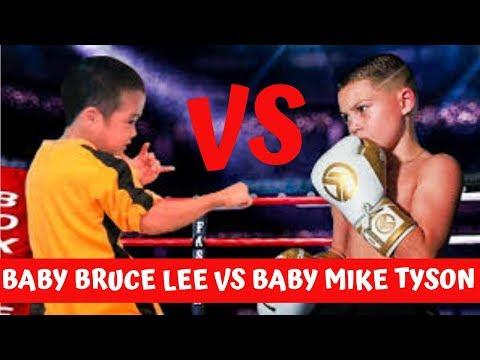 MINI BRUCE LEE VS MINI MIKE TYSON - KUNG FU X BOXE